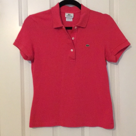 65287ef577 Lacoste Tops | Rose Devanely Polo | Poshmark